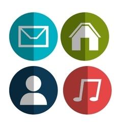 Social media entertainment graphic design vector