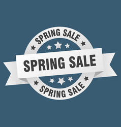 spring sale ribbon spring sale round white sign vector image