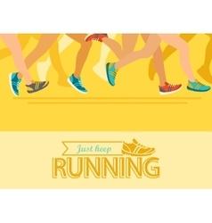 Summer running marathon concept vector image