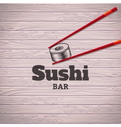 Sushi poster vector image