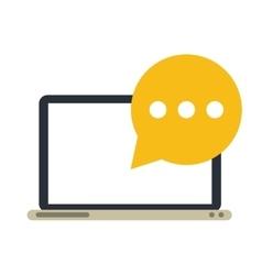 technology laptop mail bubble speech vector image
