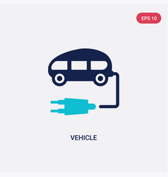 Two color vehicle icon from future technology vector