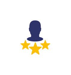Vip member premium user icon on white vector