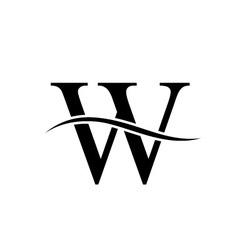 W alphabet logo vector