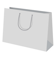 wide paper bag mockup realistic style vector image