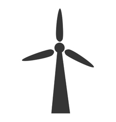 Wind turbine eolic energy icon vector