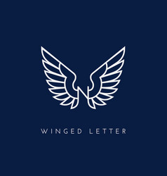 Winged letter vector