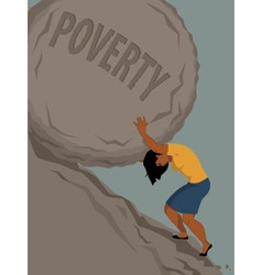 Woman in poverty vector image
