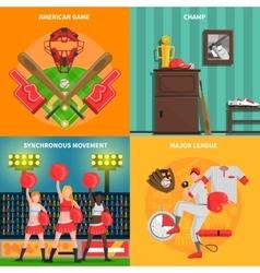 Baseball concept set vector image vector image