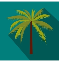Coconut palm tree icon in flat style vector image vector image