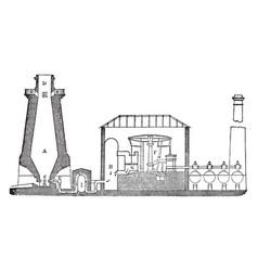 hot blast furnace vintage vector image
