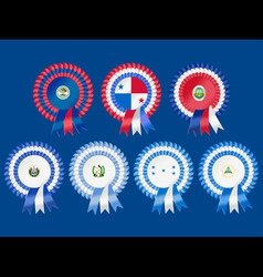 rosettes to represent central american countries i vector image vector image
