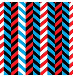 seamless geometric blue and red pattern vector image vector image