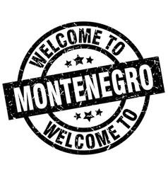 welcome to montenegro black stamp vector image