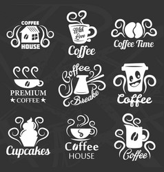 coffeehouse of coffee shop icons templates vector image vector image
