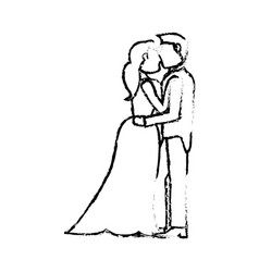 couple wedding love sketch vector image vector image