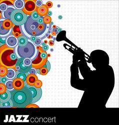 jazz musician background vector image vector image