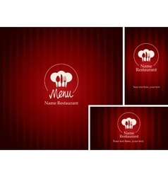 menus and business cards for restaurant vector image