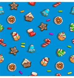 Background with gingerbreads vector image