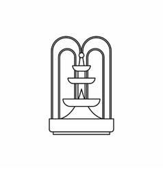 Fountain icon outline style vector image vector image