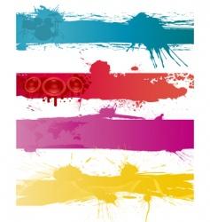 grunge backgrounds set vector image vector image