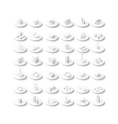 isometric icon vector image vector image
