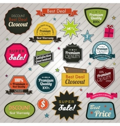 Sales price tags stickers and ribbons vector image vector image