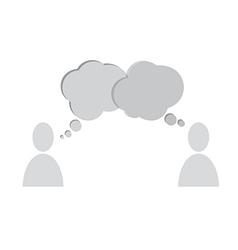 speech bubbles people vector image