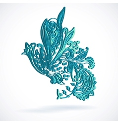 Vintage ethnic ornament background vector image vector image