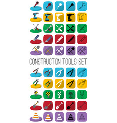 construction tools in different style outline vector image vector image