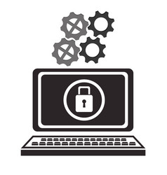 cyber security technology data padlock protection vector image vector image