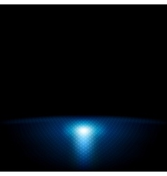 Dark blue abstract tech background vector image