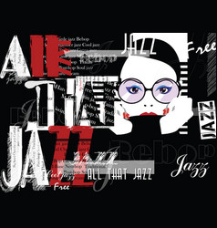 jazz music poster background template front view vector image
