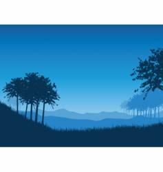landscape at night vector image