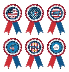 usa rosettes vector image vector image