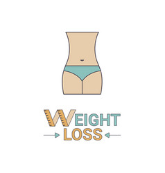 weight loss icon weight loss icon vector image