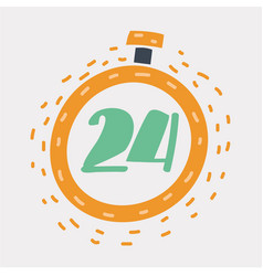 24 hour assistance 24 hours time icon vector image