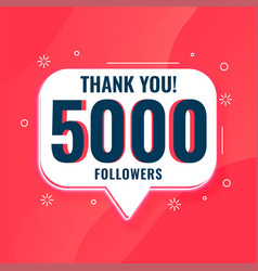 5k social media followers thank you poster design vector