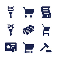 9 sell icons vector