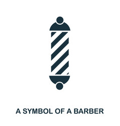 A symbol of a barber icon flat style icon design vector