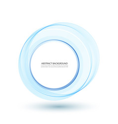 abstract blue swirl circle for vector image