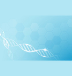 abstract geometric shape dna and medicine vector image