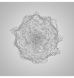 Abstract shape of particles array vector image