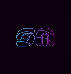 alphabet letter combination sm s m logo company vector image