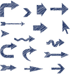 Arrows scribble vector