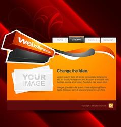 Artistic webpage vector