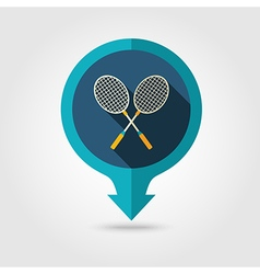 Badminton Racket pin map icon Summer Vacation vector