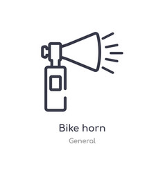 Bike horn outline icon isolated line from general vector