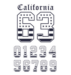 California set number flag usa black white vector