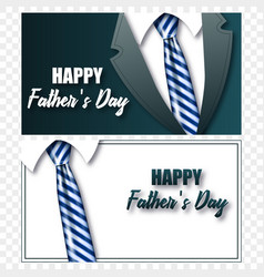 cards fathers day tie with realistic tie vector image